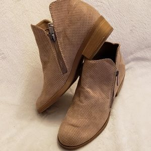 Universal Thread | Taupe Zipper Booties | NWT